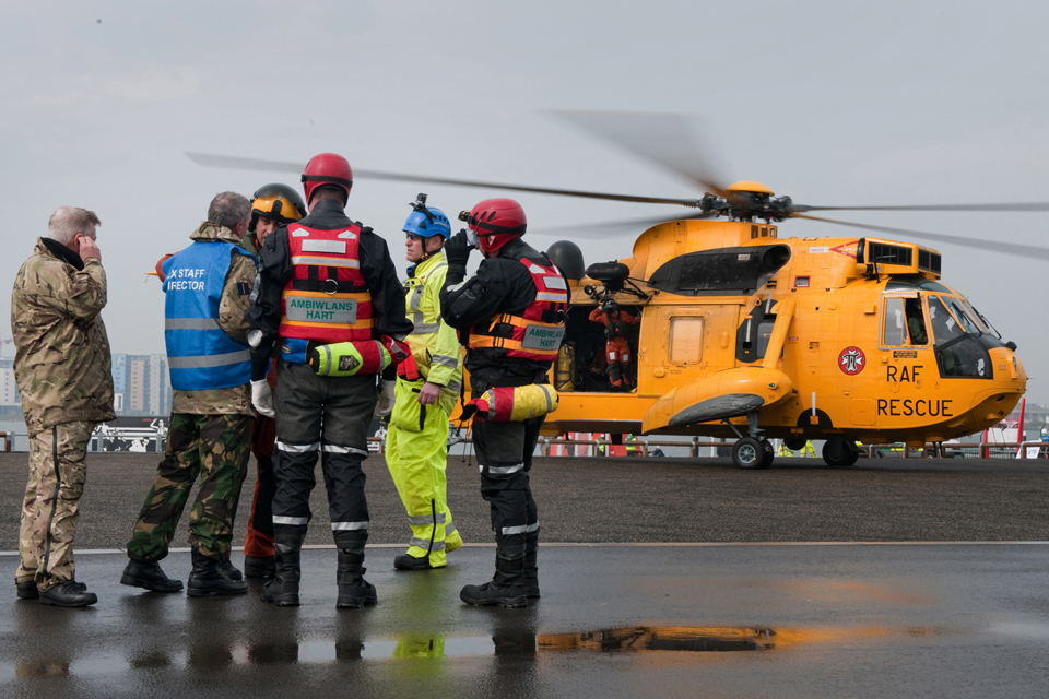 Members of the Royal Air Force and the Hazardous Area Response Team
