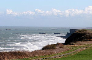 Invasion port on the coast of Normandy