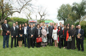 British Ambassador to Morocco Clive Alderton and the participants at FORSA