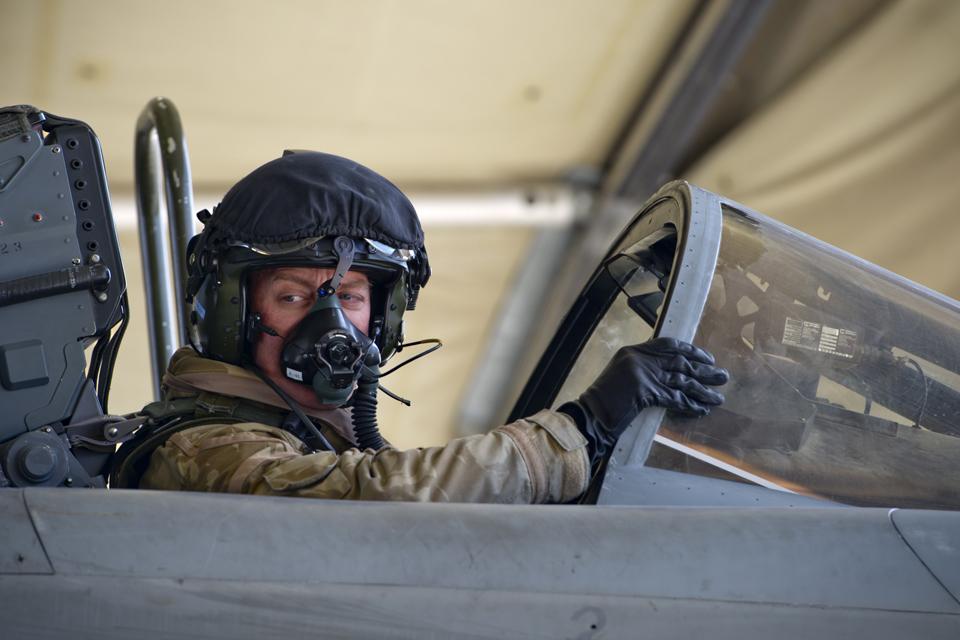 Wing Commander Jez Holmes