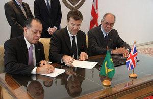 Assinatura MoU em São Paulo / Foto: Consulado do Reino Unido