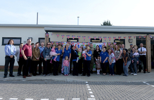 Military families at the opening of the new Wattisham Airfield Childcare Centre [Picture: Crown Copyright]
