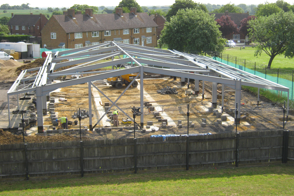 The Wattisham Airfield Childcare Centre under construction