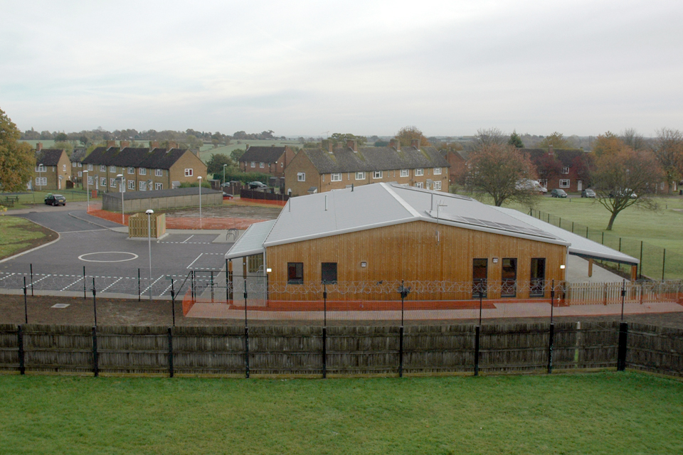 The new Wattisham Airfield Childcare Centre
