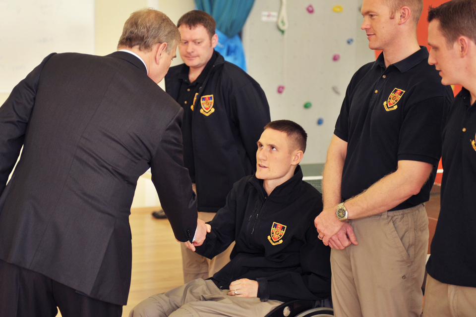 His Royal Highness The Duke of York meets members of Hasler Company