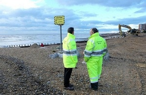 flood defences, shingle replacement, Lancing