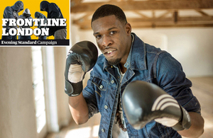 Aaron Murray, who is a former gang member hoping to start up a boxing gym as part of Frontline London social entrepreneurs