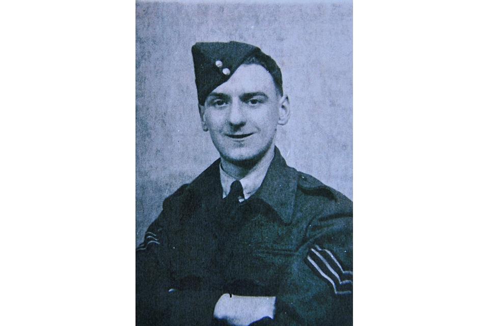 Sergeant Bernard Morgan during the war