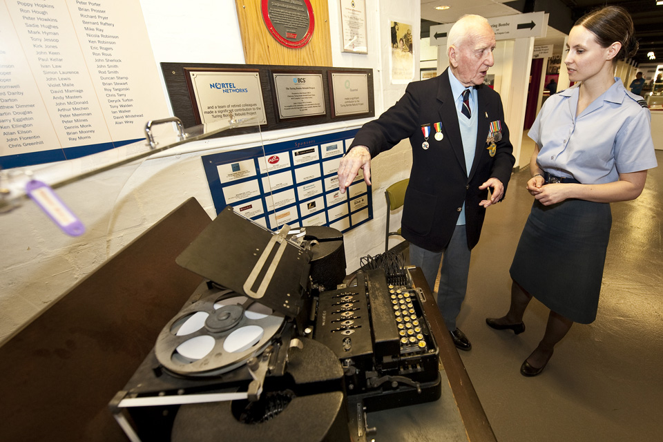 Sergeant (Retired) Bernard Morgan with Flight Lieutenant Vikki Thorpe