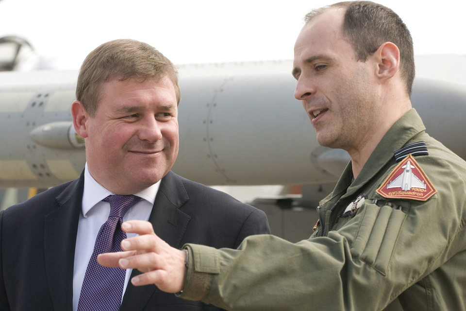 Mark Francois and Wing Commander Mark Flewin