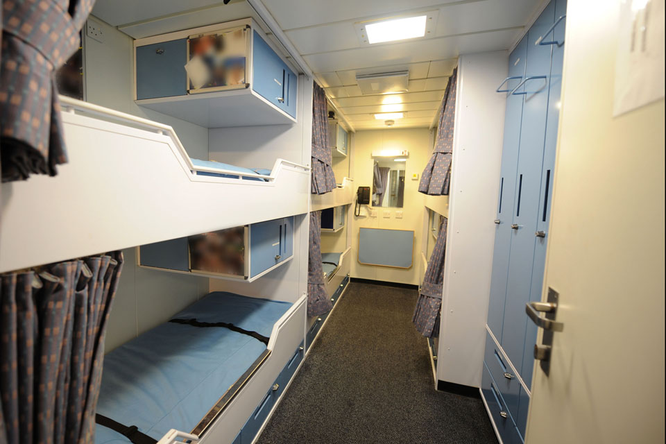 Junior rates' sleeping quarters