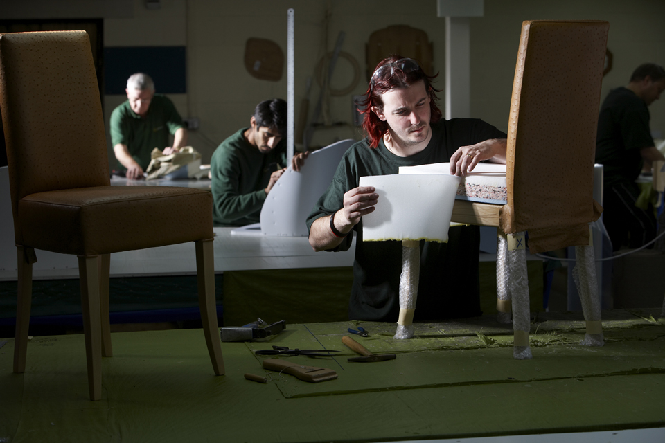 Upholsterers at work