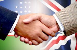 Uzbek - British flag