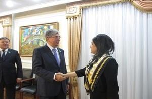 Meeting with Kassym-Zhomart Tokaev
