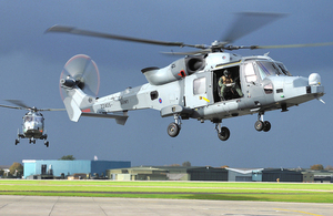 Wildcat helicopters are due to operate from Royal Naval Air Station Yeovilton from 2015 (library image) [Picture: Leading Airman (Photographer) Abbie Herron, Crown copyright]