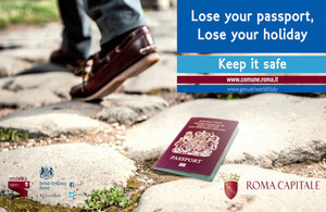 Image of poster for lose your passport campaign.