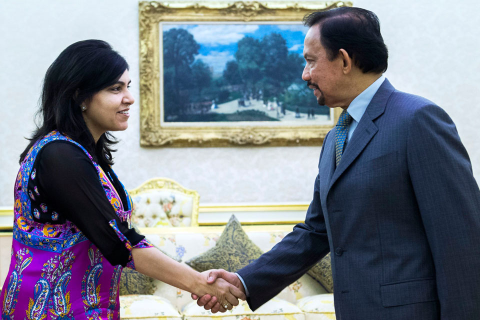 Baroness Warsi called on His Majesty The Sultan of Brunei.