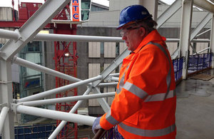 Transport Secretary Patrick McLoughlin at Birmingham New Street Station