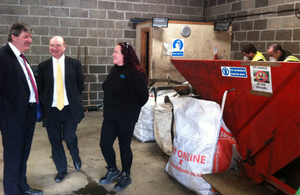 Alistair Carmichael visits Re-JIG recycling centre on Islay