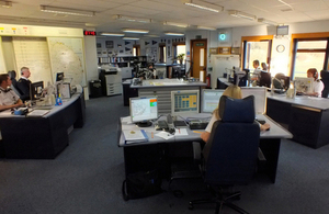 HM Coastguard operations room