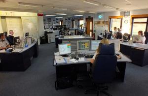 HM Coastguard operations room
