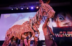 The National Theatre of Great Britain and the National Theatre of China have reached an agreement to bring a Chinese-language version of War Horse onto Chinese stage in autumn 2015. Sebastian Wood, Britain's Ambassador to China, delivered a speech at the