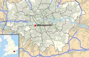 Wandsworth shown within Greater London