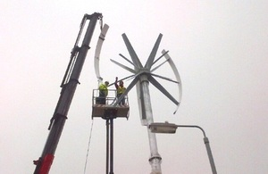 New turbine being built