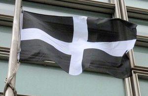 Saint Piran's Flag - the flag of Cornwall