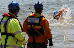 Coastguards rescued a woman who got into difficulty