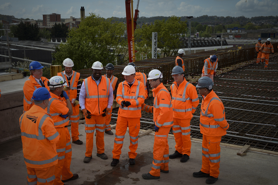 David Cameron visiting the Reading Elevated Railway
