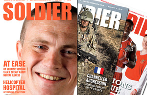 Front cover of the June 2011 issue of the award-winning Soldier magazine, with past covers from earlier in the year