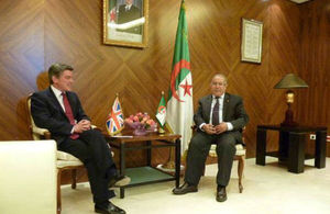Mr. Robertson with Algerian Foreign Minister Mr. Lamamra