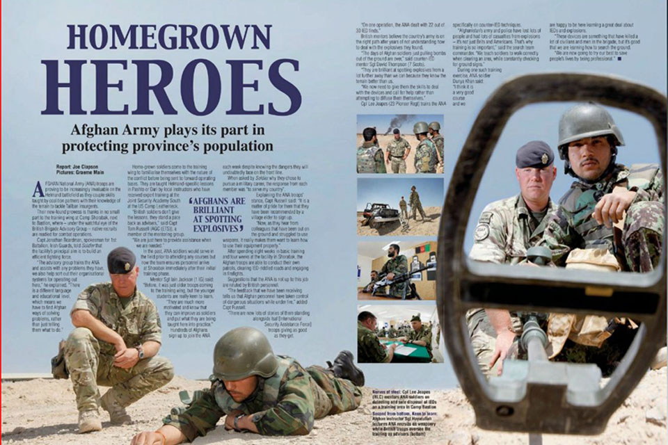 Two-page feature from the June 2011 issue of Soldier magazine