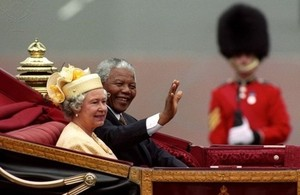 Nelson Mandela and Her Majesty The Queen
