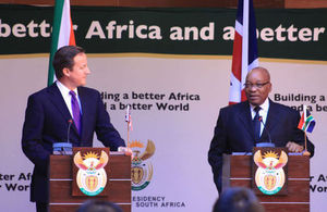David Cameron and Jacob Zuma