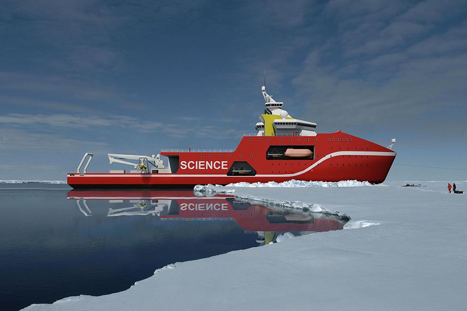 Polar ship sidways.