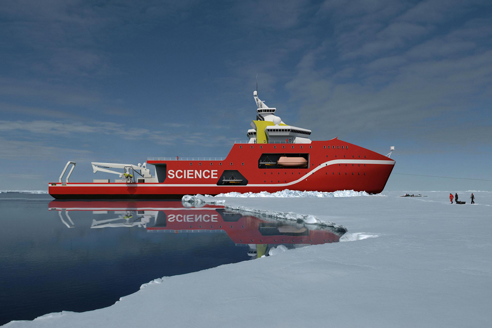 artists impression of polar ship