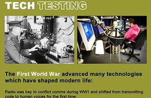 tech testing postcard