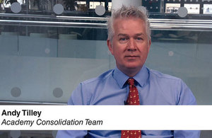 Picture of presenter Andy Tilley from narrated presentation on the March accounts return