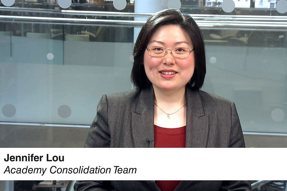Picture of presenter Jennifer Lou from narrated presentation on the budget forecast