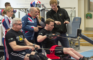 Prince Harry at Tedworth House Recovery Centre meeting service personnel looking to take part in the Invictus Games [Picture: Corporal Jamie Peters RLC, Crown copyright]