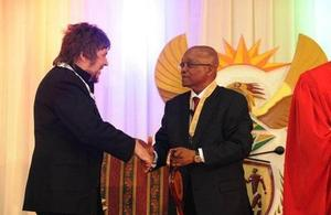 Jacob Zuma and Jerry Dammers
