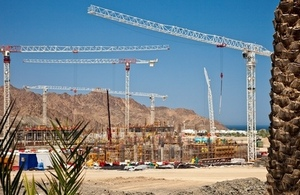 Construction site in the Middle East