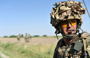 A soldier equipped with a personal role radio during operations in Afghanistan (library image) [Picture: Corporal Paul Morrison, Crown copyright]