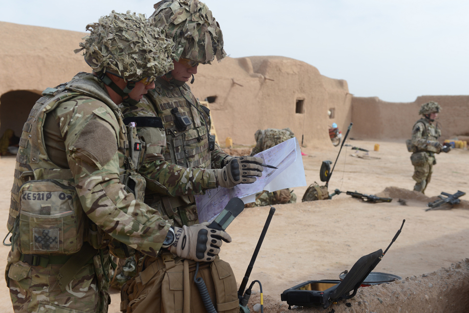 Soldiers in Afghanistan using VHF radio