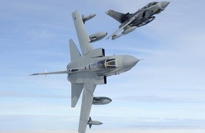 Two RAF Tornado GR4 aircraft in flight (library image) [Picture: Jamie Hunter/Aviacom Ltd]