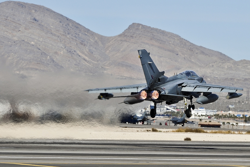 An RAF Tornado takes off