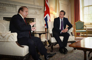 Pakistan s prime minister nawaz sharif visited the uk this week press releases gov uk - Office of prime minister uk ...