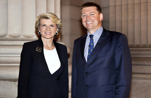 The Hon Julie Bishop and HE Paul Madden